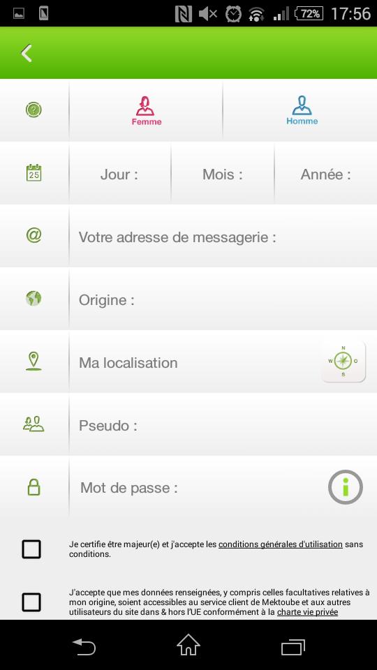mektoube mobile mon profil