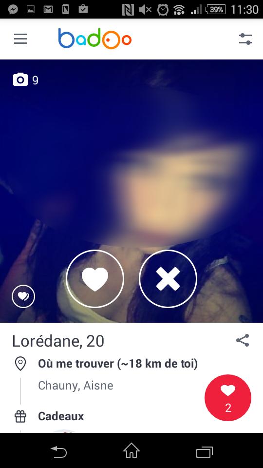 profil femme badoo mobile